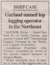 Garland named top logging operator in the Northeast - Conway Daily Sun